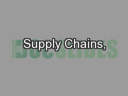 Supply Chains,