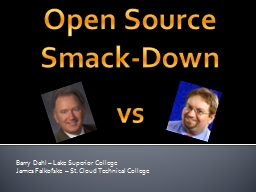 Open Source Smack-Down