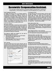 WHITE PAPER SERIES onset Barometric Compensation Assis