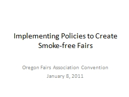 Implementing Policies to Create Smoke-free Fairs