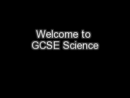 Welcome to GCSE Science