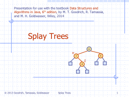 Splay Trees PowerPoint PPT Presentation