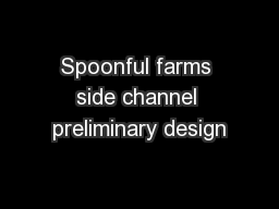 Spoonful farms side channel preliminary design