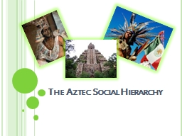 The Aztec Social Hierarchy