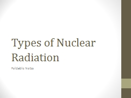 Types of Nuclear Radiation PowerPoint PPT Presentation