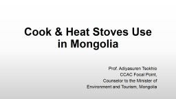 Cook & Heat Stoves Use in Mongolia