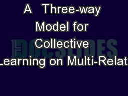 A   Three-way Model for Collective Learning on Multi-Relati