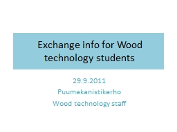Exchange info for Wood PowerPoint PPT Presentation