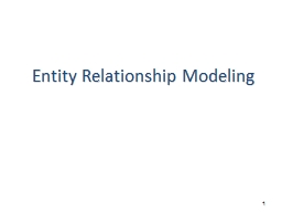 1 Entity Relationship Modeling PowerPoint PPT Presentation