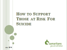 How to Support Those at Risk For Suicide