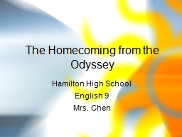The Homecoming from the Odyssey PowerPoint PPT Presentation