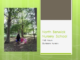 North Berwick Nursery School PowerPoint PPT Presentation