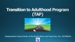 Transition to Adulthood Program PowerPoint PPT Presentation