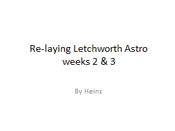 Re-laying Letchworth