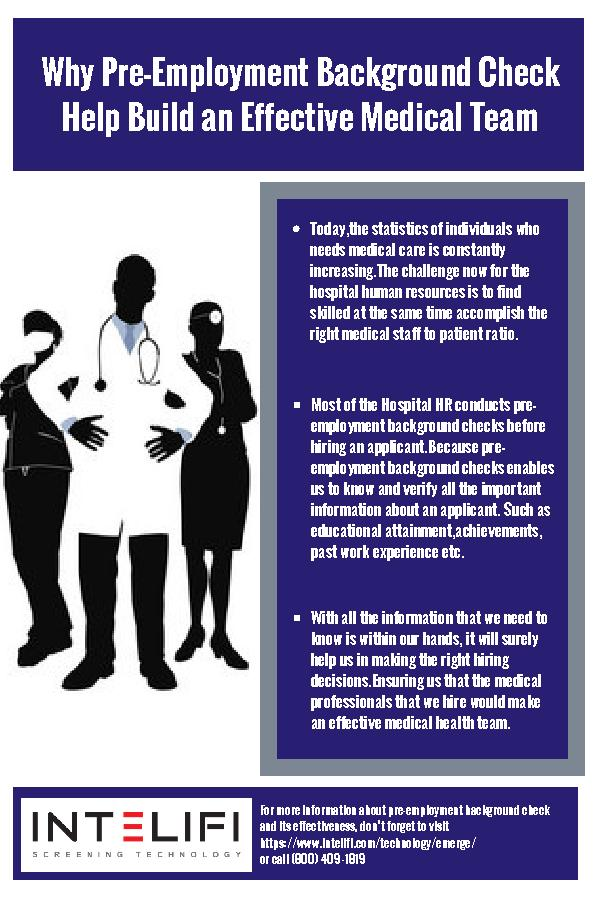 Why Pre-Employment Background Check Help Build an Effective Medical Team