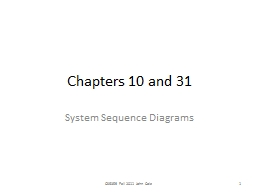 Chapters 10 and 31