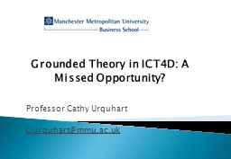 Grounded Theory in ICT4D: A Missed Opportunity?