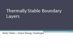 Thermally Stable Boundary Layers