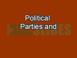Political Parties and