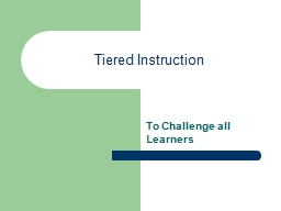 Tiered Instruction PowerPoint PPT Presentation