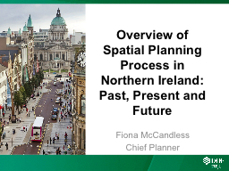 Overview of Spatial Planning Process in Northern Ireland: P