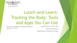 Lunch-and-Learn: PowerPoint PPT Presentation