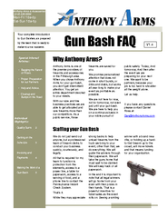 Your complete introduction to Gun Bashes as prepared b