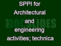 SPPI for Architectural and engineering activities; technica