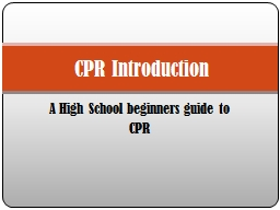 A High School beginners guide to