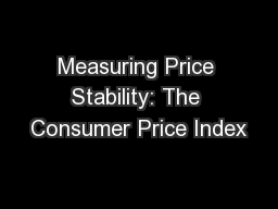 Measuring Price Stability: The Consumer Price Index PowerPoint PPT Presentation