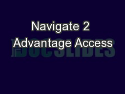 Navigate 2 Advantage Access