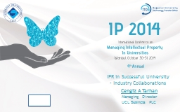 IPR in Successful University PowerPoint PPT Presentation