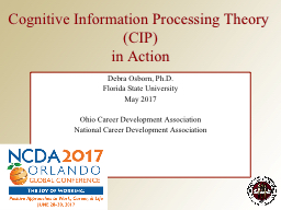 Cognitive Information Processing Theory (CIP)