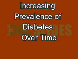 Increasing Prevalence of Diabetes Over Time