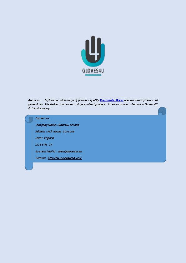 Buy Premium Quality Disposal Gloves at Best Price