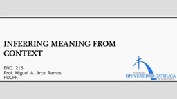 Inferring Meaning From Context