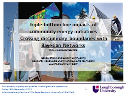 Triple bottom line impacts of community energy initiatives