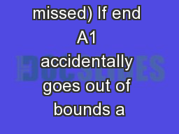 ( 41.6% missed) If end A1 accidentally goes out of bounds a
