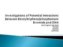 Investigations of Potential Interactions Between