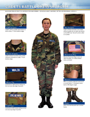 Cadets without grade wear device on both collars  from