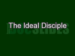 The Ideal Disciple