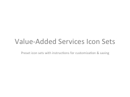Value-Added Services Icon Sets