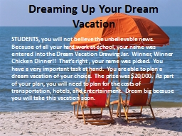 Dreaming Up Your Dream Vacation