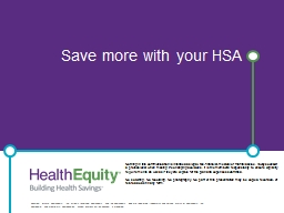 Save more with your HSA
