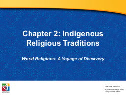 Chapter 2: Indigenous Religious Traditions