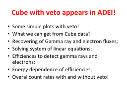 Cube with veto appears in ADEI!