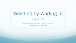 Weeding by Wading In