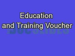 Education and Training Voucher