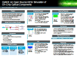 OptiKit: An Open Source Kit for Simulation of PowerPoint PPT Presentation