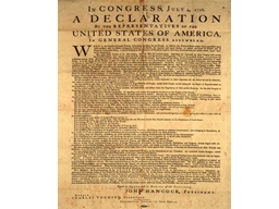 Actual words/phrases of the Declaration of Independence wil